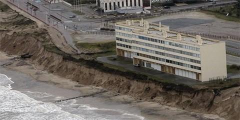 Les tempêtes ont fait reculer la côte en Aquitaine